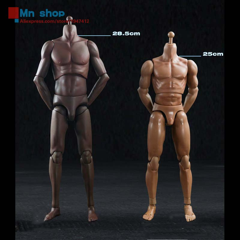 """HAOYU TOYS 1/6 Super Sports Body (a total of two models)T01 Black Color And T02 White Skin Color for 12"""" Action Figure Toys(China (Mainland))"""