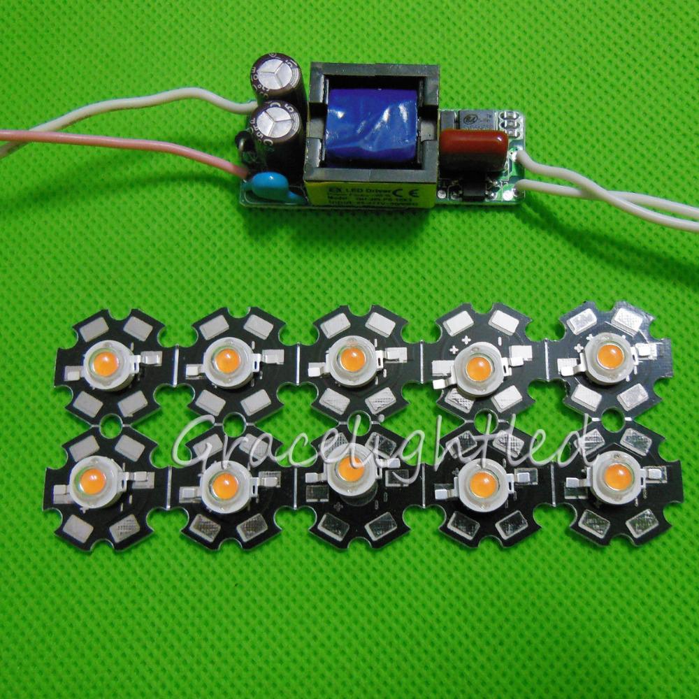 10pcs 3w full spectrum led 380-840nm +1pcs 6-10x3w 600mA led driver diy 30w led grow light for plants lamp(China (Mainland))