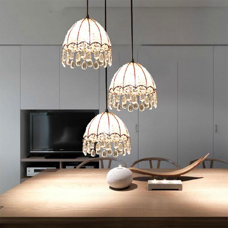 2015 New Arrive Hollow Crystal Pendant Lights, Creative Retro Iron Lamp European USA Bedroom Bar Living Room Lamp Pendant Lamp<br><br>Aliexpress