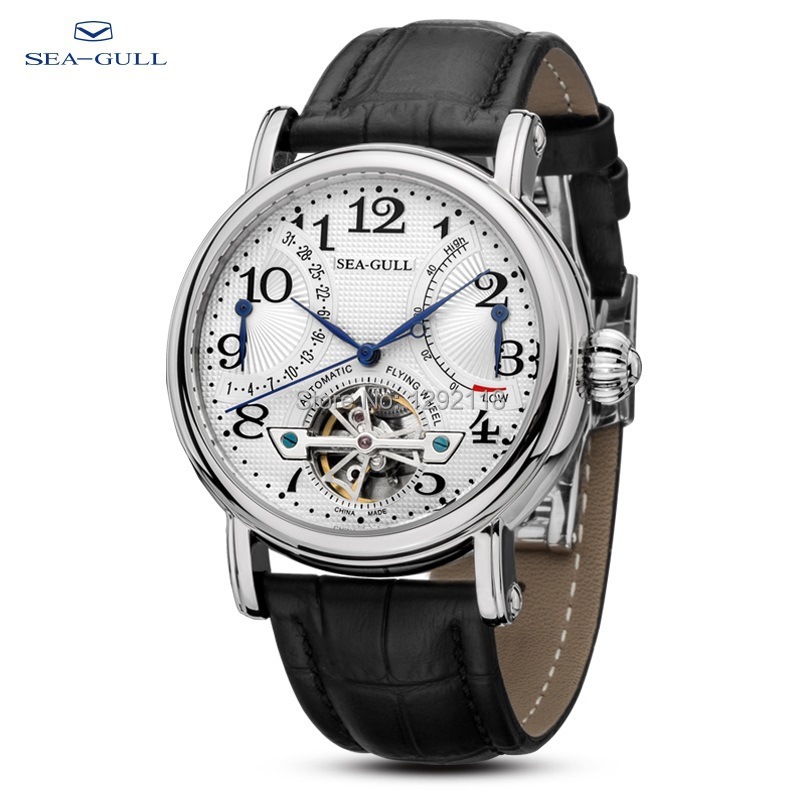 China Famous Brand Sea Gull Men's Watch Sea-Gull Mens Watches Reloj Hombre Silver Montre Homme Automatic Winding Watch(China (Mainland))