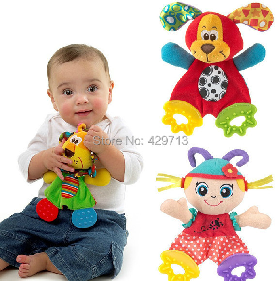 teething blankie teethers and toys Paper ring Appease towel Baby care handkerchief teether handkerchief lowest price clearance()