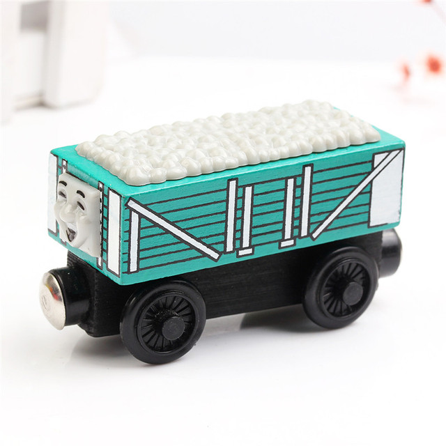 A Series Of Children's Toys Wooden Thomas Train Car Wooden Magnetic Puzzle Toy  Cars And Locomotives