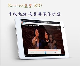 5PCS/Lot 3 Layers Clear Screen Protector Film Guard For 7.85inch Ramos X10 Tablet PC With Camera Hole(China (Mainland))