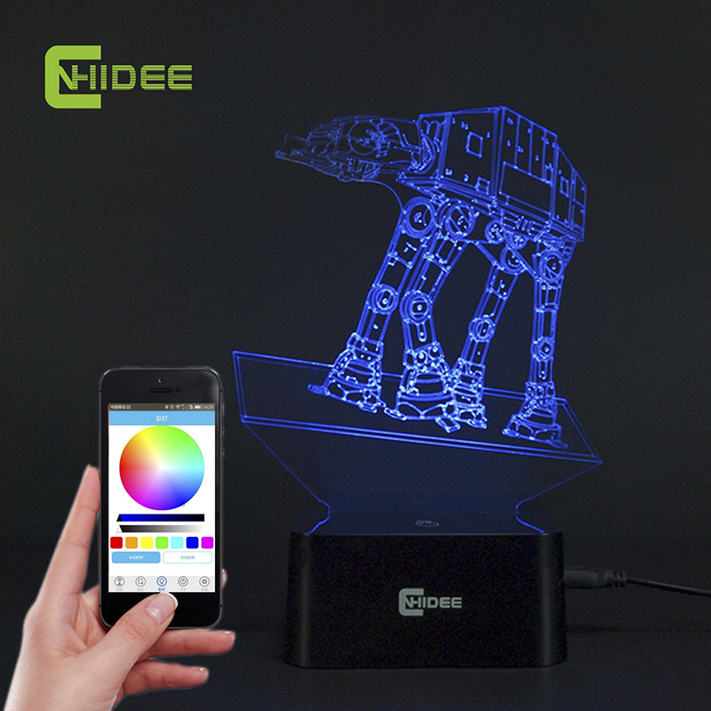 CNHIDEE USB Novelty Music Lamp Light Imperial Walker AT-AT Star Wars Table Light LED Bulbing Lamp 3D Engraving Led Luz de Noche<br><br>Aliexpress