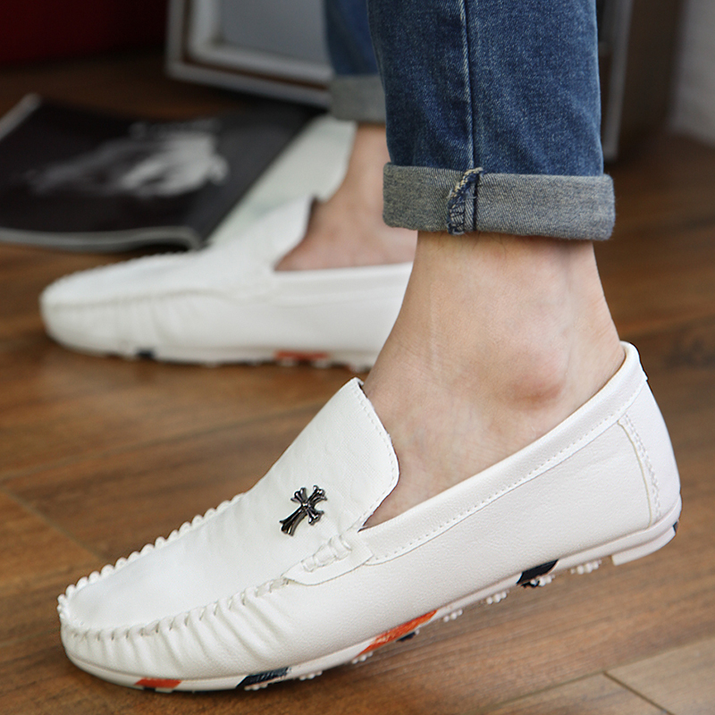 New 2016 Summer Men Breathable Moccasins Male Genuine Leather Flat Shoes Lazy Fashion Casual Boat Shoes Tenis Masculino 2A(China (Mainland))