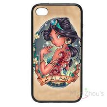 For iphone 4/4s 5/5s 5c SE 6/6s plus ipod touch 4/5/6 back skins mobile cellphone cases cover Tattoo Portrait Princess