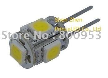 Top seller Brand new 1000pcs/lot High power Car LED light G4 5 SMD 5050 Light Interior led Bulbs car led