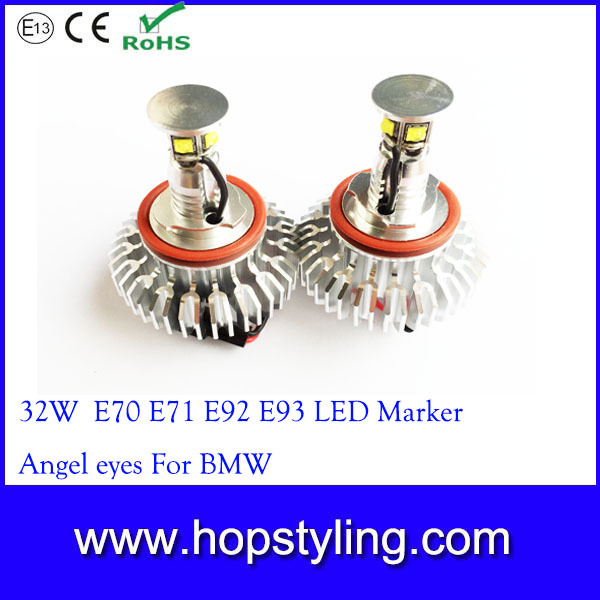 Free shipping 2 Pieces (1 Set) 32 W Led angel eyes for BMW H8 E92 E87 X6 E70 X5 E71 auto light car styling<br><br>Aliexpress