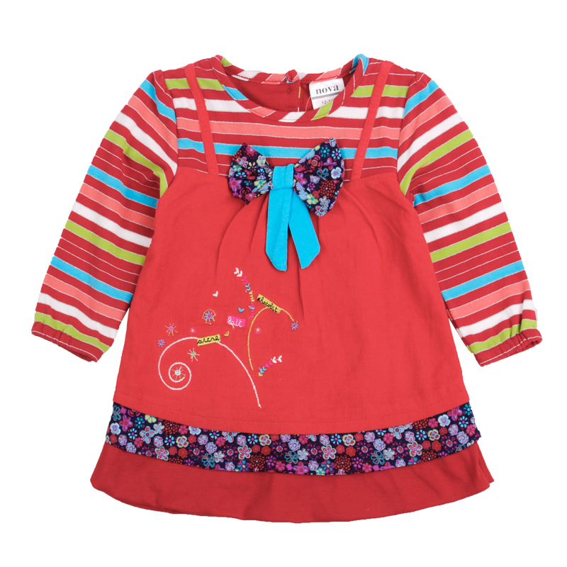 5pcs/lot Children Clothes Girl Embroidery Spring Autumn Girls Clothes Dress Baby Girl Clothes Long Sleeve Kids Dresses <br><br>Aliexpress