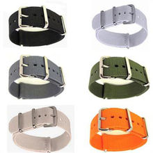 Men's Nylon Sport Wrist Watch Band Strap Infantry Military Army 6 Color  20mm