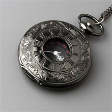 2015 New Retro Vintage Pocket Watch Black For a gift Brand New Antique Steam punk Quartz