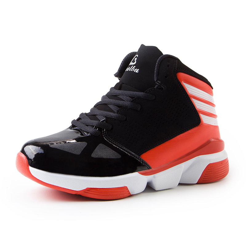 2017 Hot Sale Basketball Shoes Men High Top Sport Sneakers Leather Shoes of Basket Homme Red/White Low Price Basketball Shoes(China (Mainland))