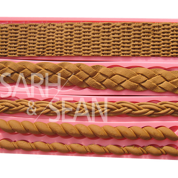 Bamboo Basket Rattan Braided Fabric Border Decorations Fondant Cake Molds Chocolate Molds for the Kitchen Baking and Tools(China (Mainland))