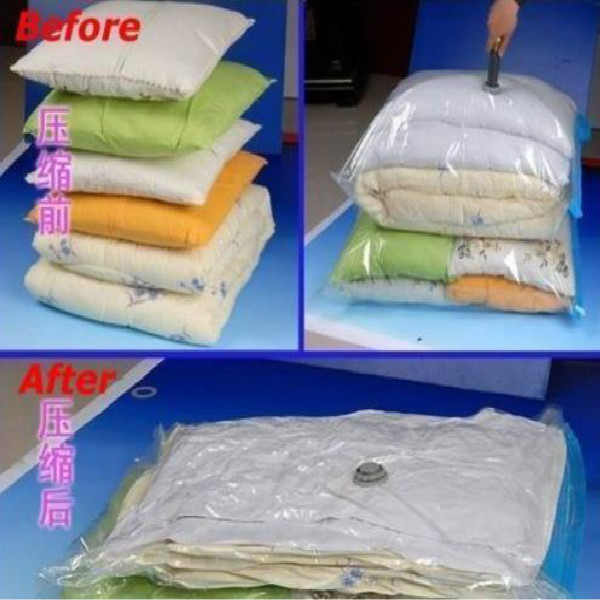 60 x 80 Clean Compressed Vacuum Bag Storage Organizer Space Saver Storage Compressed(China (Mainland))
