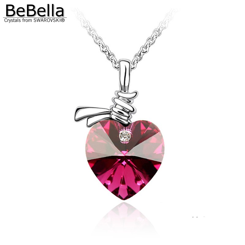 Fashion crystal heart pendante necklace Made with SWAROVSKI ELEMENTS for Mother's Day gift(China (Mainland))