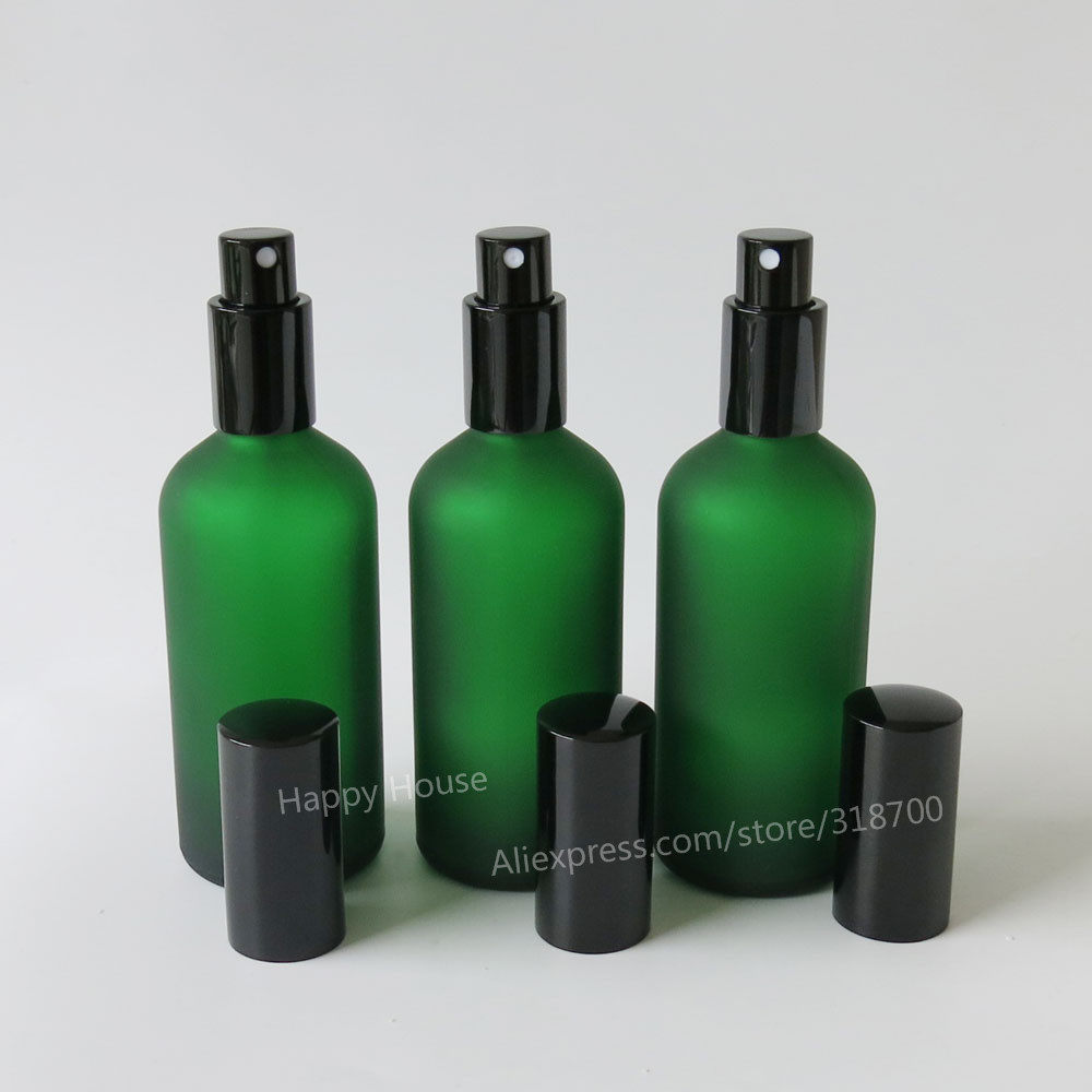 360 x 100ml Frosted Green  Glass Perfume Bottle,100 cc Mist Sprayer Glass Bottle, 100 cc perfume glass atomizer<br>