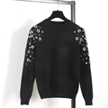 Unique Designer High Quality Women s Autumn Winter Soft Warm Sweater Fashion Mujer Hand Beaded Sequined