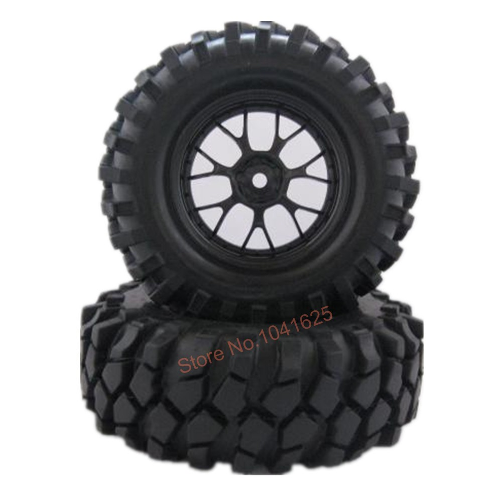 4Pcs RC Crawler Tires 1.9 inch Assembled Rubber 96mm With Wheel Rim Hex:12mm For 1:10 Scale Climbing Car Truck
