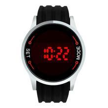 Hot Marketing Fashion Waterproof Men LED Touch Screen Day Date Silicone Wrist Watch Jun7 Hcandice