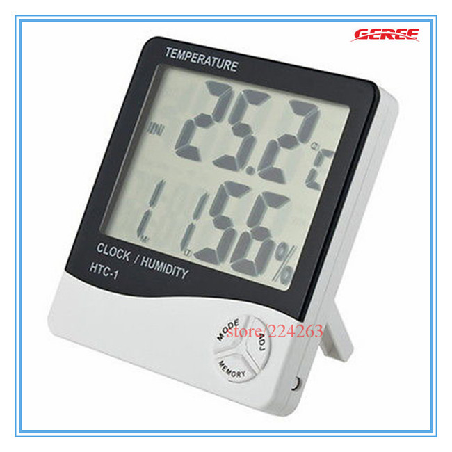 New LCD Digital Alarm Clock Thermometer/temperature Humidity meter/Hygrometer Meter 24-hour displaying<br><br>Aliexpress