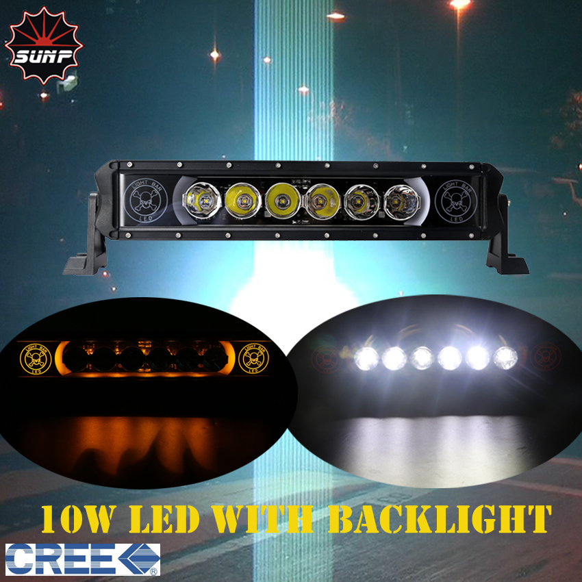 20 - 50 inch LED Offroad Light Bar CREE 10W White LED with Amber / Blue / Red / Green BACK-LIGHT for 4wd OFF ROAD SUV ATV UTV(China (Mainland))