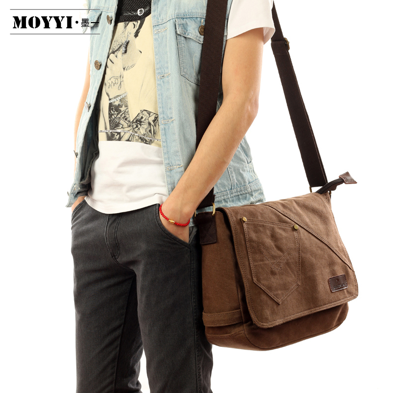 Male canvas bag Shoulder Bags handbag Messenger Bag Leisure Retro package Conventional large capacity tote men bag(China (Mainland))