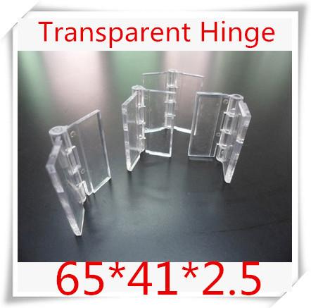 50PCS/LOT Acrylic Hinge , perspex Transparent Hinge , Plexiglass Hinge , organic glass hinge 65x41mm ,furniture accessory(China (Mainland))