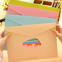 """Sea World"" Top Open Pack of 4 Cute Cardboard Document File Folder Bag Organizer(China (Mainland))"