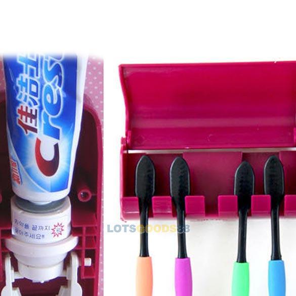 LS4G Bathroom Automatic Auto Toothpaste Dispenser Brush Holder Set Wall Mount(China (Mainland))