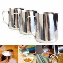 Coffee Accessories Stainless Steel Coffee Cup 350/600/1000mL Kitchen Home Handle Coffee Garland Cup Jug Brand Tableware BS