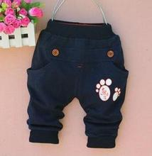 free shipping 1pieces/lot 100% cotton 2015 cute foot   baby pants(China (Mainland))
