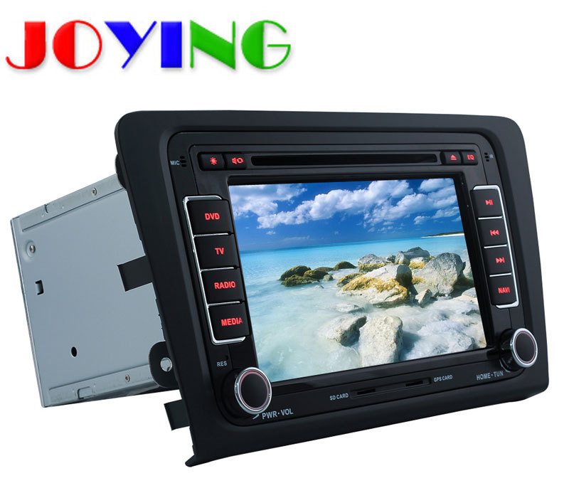 Autoradio Quad Core 1024*600 2 Din Android 4.4 Car DVD GPS Navigation System For VW Skoda Rapid 2014 DVD Automotivo Car Styling(China (Mainland))