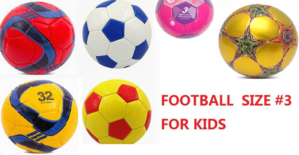good quality football official size 3 children soccer multcolored child Football kids toy ball teenage soccer 3#(China (Mainland))