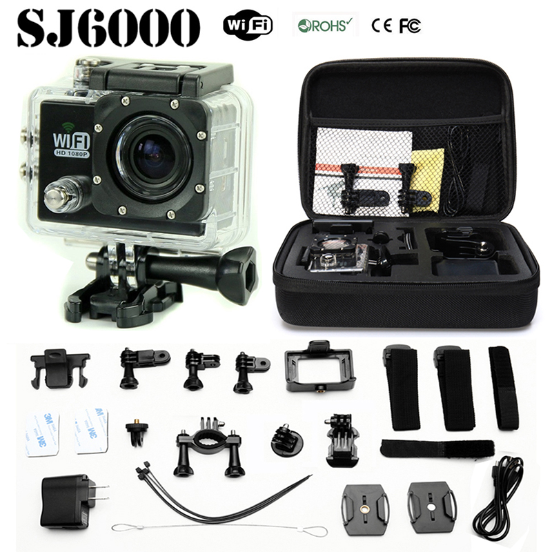 Action Camera Original SJ6000 WIFI 2.0''LCD 1080P Full HD Diving 30M Waterproof camera +Extra Battery and Charger(China (Mainland))