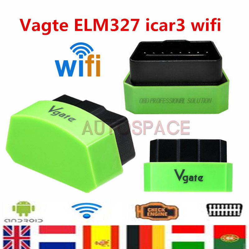 Vgate iCar3 Wifi OBD professional solution WI-FI Version ELM327 OBD2 Code Reader iCar3 for Android/ IOS/PC(China (Mainland))