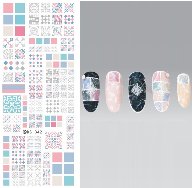 DS342 New Design Water Transfer Nails Art Sticker Harajuku Elements Chinese Window Paper Cut Nail Wraps Sticker Manicura Decal(China (Mainland))