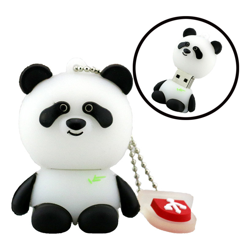 pen drive cartoon bearcat 4gb 8gb 16gb 32gb 64gb usb flash drive panda animal flash memory stick pendrive gift free shipping(China (Mainland))
