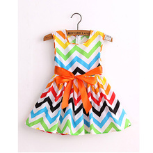 new 2016 brand fashion cotton print  girl  dress baby girls  princess  dresses  kids dress children clothes vestidos infantis