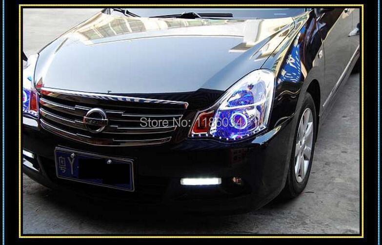 Купить Автомобиль для укладки, Sylphy дневного света, 2006 ~ 2011/2016 ~ 2017, chrome, автомобиль-детектора LED, Свободный корабль! 2 шт., Sylphy противотуманная фара; автомобиля охватывает, Bluebird