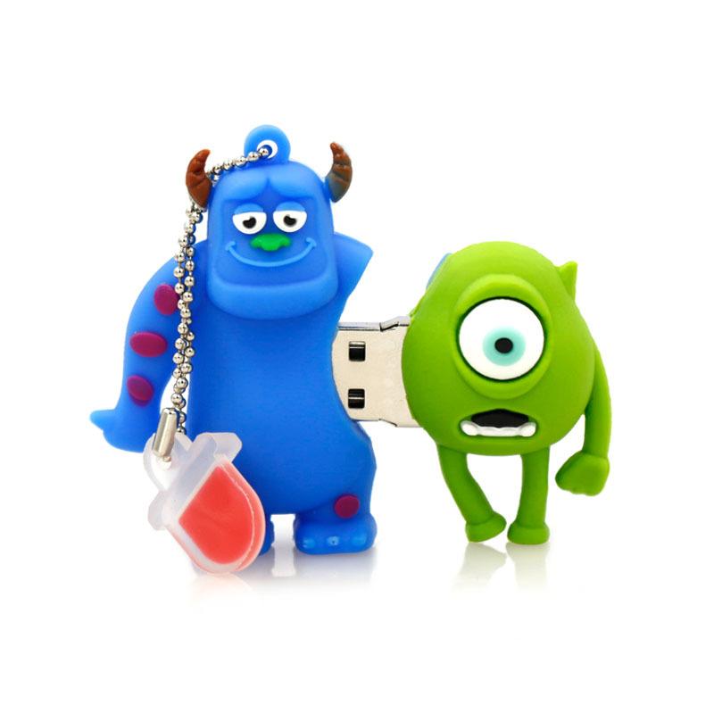usb flash drive 64g pen drive 32g pendrive 16g 8g 4g Hot Sale Cartoon Monsters University model pendrive Usb2.0 free shipping(China (Mainland))