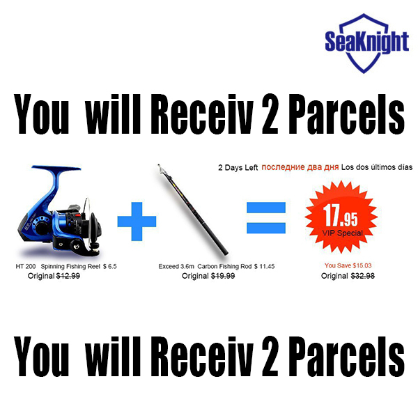 SeaKnight Telescopic FISHING ROD AND REEL SET Lure Fishing Reels spinning reel Tackle Rods Cheapest High
