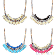 New Fashion Crystal Chain Statement Bib Necklace Choker Hot Jewelry Pendant 1DRP(China (Mainland))
