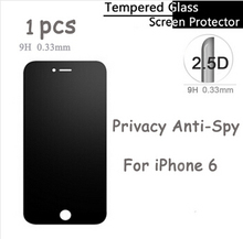 Anti Shatter Ultra Thin 2.5D Round Edge Privacy Anti-Spy Glass Tempered Glass Film Screen Protector for iPhone 6 Protective film