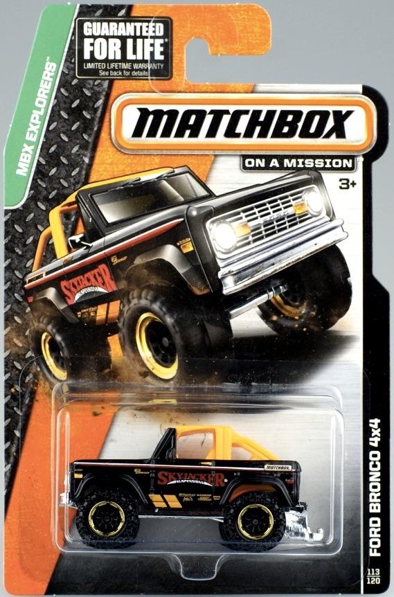 Matchbox Die-cast MBX Explorers: FD BRONCO 4X4/Toy/Model Car/2015 case B/7CM(China (Mainland))