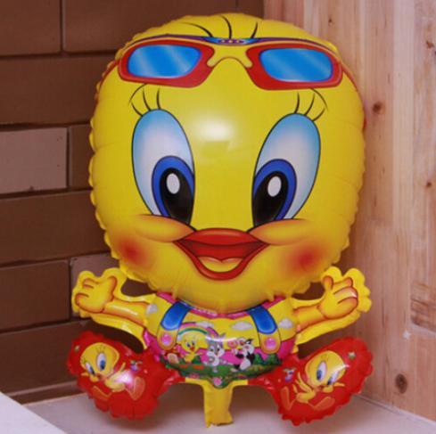 New Arrive send random Yellow Duck Foil Balloons Cartoon Helium Balloon Kids Toys Children Birthday Party Balloons Q125(China (Mainland))