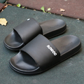 2017 New Fashion Men Beach Slide Slippers Black White Platform Flip Flops Casual Summer Slip on