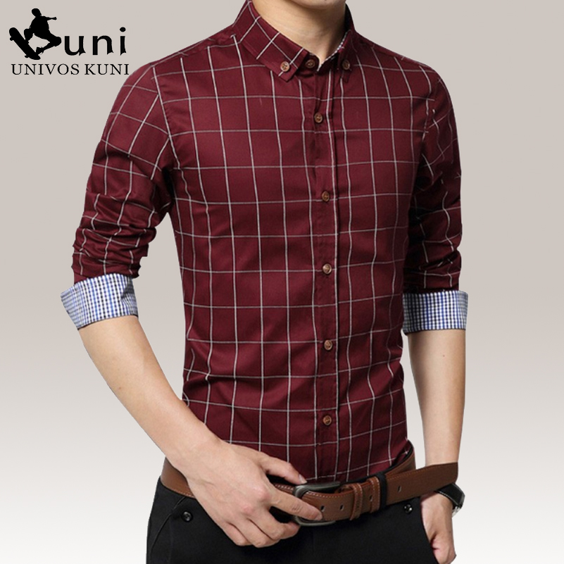 Plus Size 5XL 2016 Casual Men's Plaid Shirts Turn-down Collar Men Fashion Casual Style Shirt Tuxedo Mens Long Sleeve Brand D3149(China (Mainland))