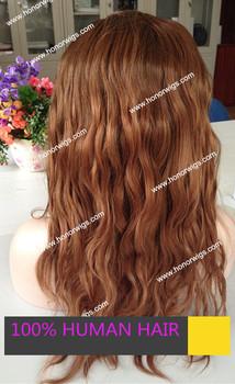 На складе Полных париков Шнурка сыпучих природных Бразильские волосы волнистые Два Тона коричневого цвета 4 Т/33 # Парик черные корни