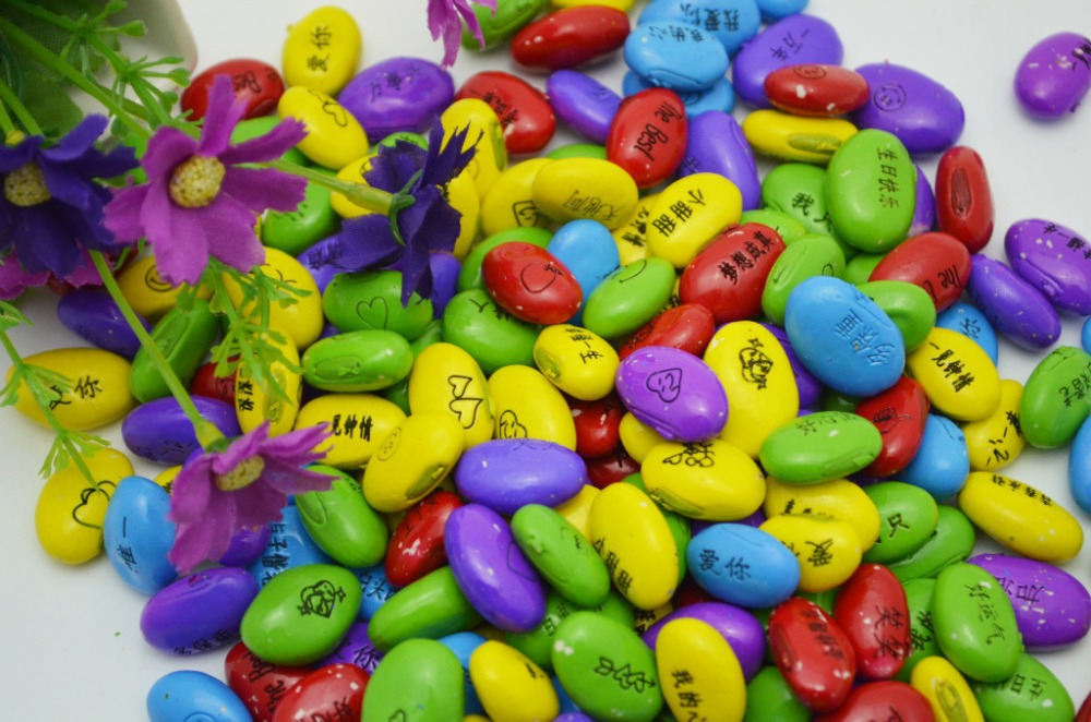 Free shipping 100pcs/lot ,Hot sale magic seeds,colourful beans ,growing message beans,natural green home plants.home decoration(China (Mainland))