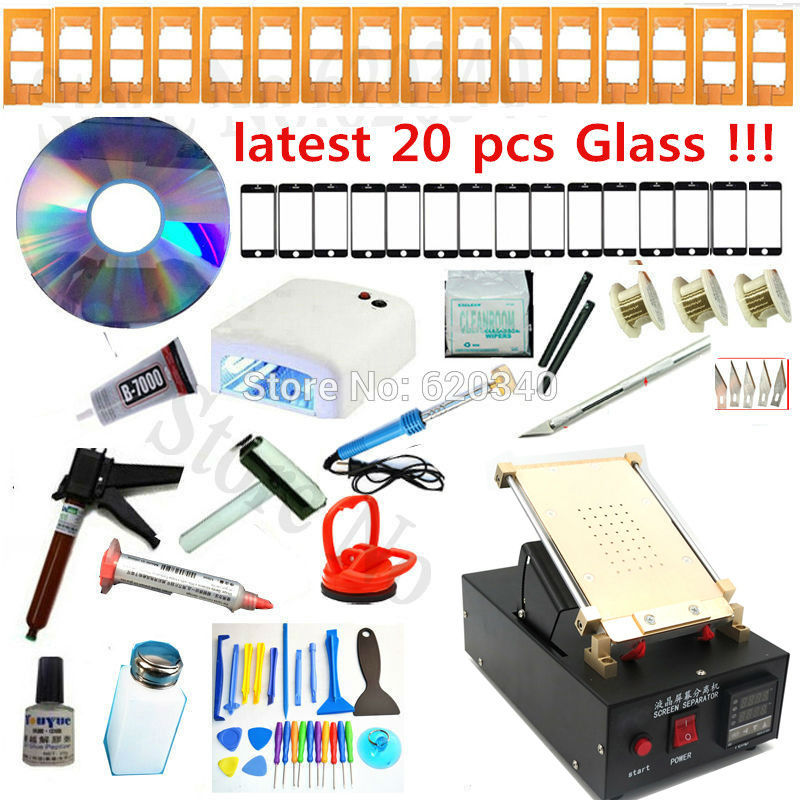 High Quality Built-in Pump Vacuum Metal Body Glass LCD Screen Separator Machine Max 7 inches for Mobile phone LCD Repair(China (Mainland))